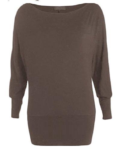 Kaaya - Camiseta de manga larga - para mujer café