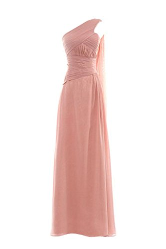 Snowskite Womens One Shoulder Long Chiffon Bridesmaid Evening Dress size 22 Pale Pink (Cinderalla Dress)