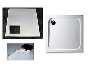 Gut gemocht KOMPLETT-PAKET: Duschwanne 90 x 90 cm superflach 2,5 cm weiß MJ54