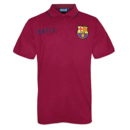 FC Barcelona Official Football Soccer Gift Mens Crest Polo Shirt Red Large
