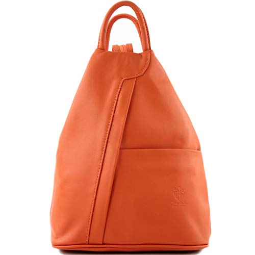 In orange Modamoda Borsa Zaino De Da T180 Colore Nappa Ital Donna wwg0vqRS