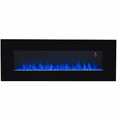 "Alek...Shop Luxurious Design 50"" Electric Fireplace Heater Wall Mount Multicolor W/Remote, Home Decor"