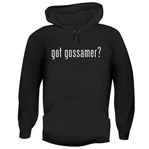 One Legging it Around got Gossamer? - Men's Funny Soft Adult Hoodie Pullover, Black, Small ()