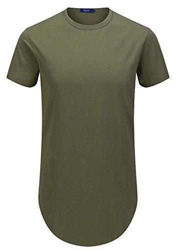 Aiyino Hipster Hemline Crewneck T shirt product image