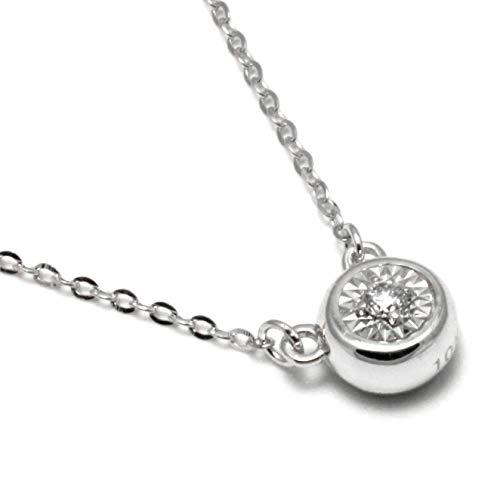 "18"" 10K White Gold Diamond Solitaire Necklace ()"