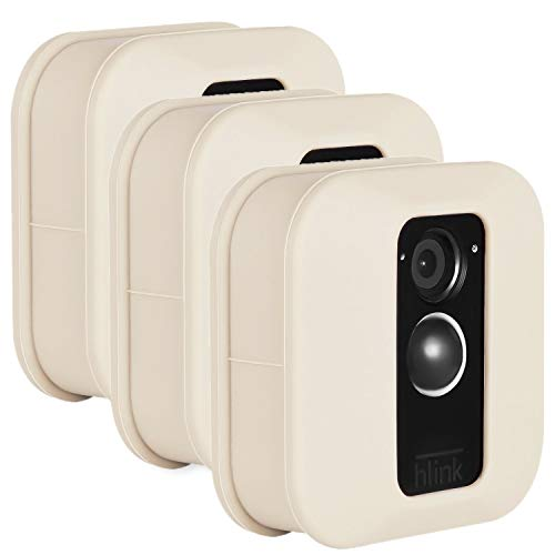Blink XT Outdoor Camera Silicone Skin - Colorful Silicone Skin to Help Camouflage and Accessorize Your Home Security Camera - by Wasserstein (3 Pack, Beige) (Renewed)