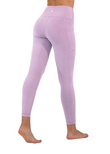 90 Degree By Reflex High Waist Tummy Control Interlink Squat Proof Ankle Length Leggings - Muted Orchid - XS