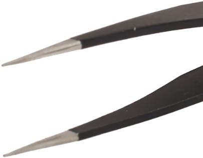 精密 ピンセット クラフトツール 先細型  ストレート ステンレス製 耐磁 122mm