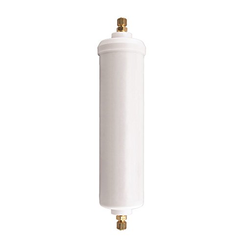 Ice Maker Replacement Cartridge (Watts Inline Water Filter 20,000 gallon Capacity- Inline Filter for refrigerator, Ice Maker, Under Sink, and Reduces Bad Taste, Odors, Chlorine and Sediment in Drinking Water)
