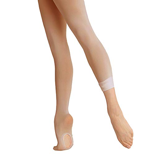 (Ballet Tights Ultra Soft Transition Convertible Dance Tights for Girls (Lt-suntan, 5-10 Years))