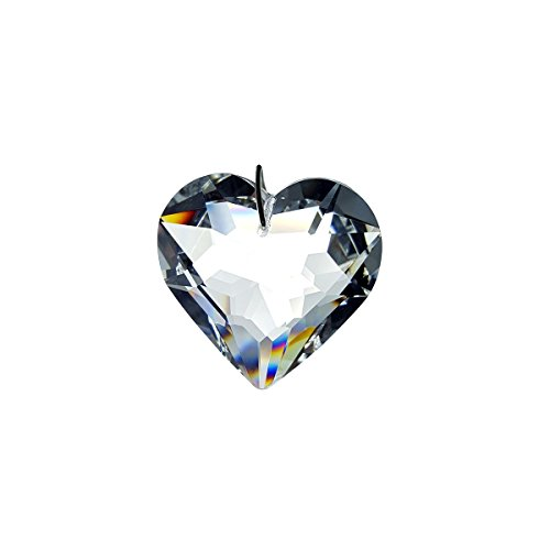 Crystal Florida #841, Crystal Full Lead Heart Ornament -
