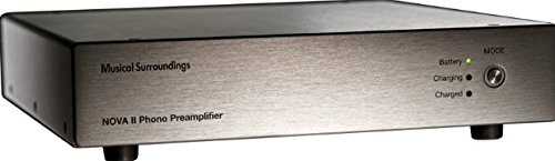 Musical Surroundings Nova II battery-powered dual-mono MM/MC Phono Preamp (Silver) by Musical Surroundings