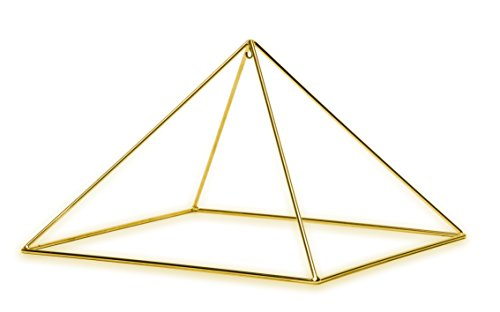 Quality Gold plated Meditation Pyramid Healing product image