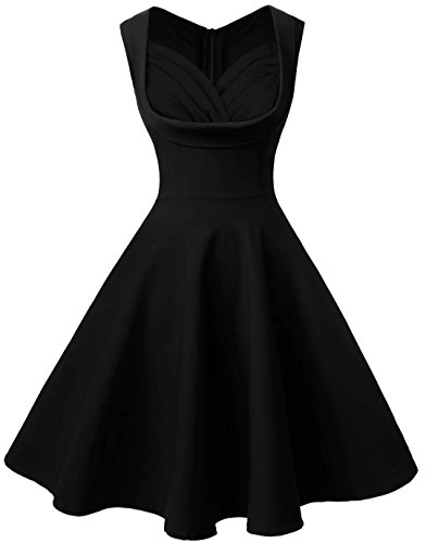 Dear-Queen Retro Vintage Dresses Elegant Casual Party Swing Dresses For Women (Prom Queen Fancy Dress)