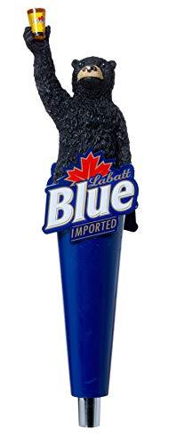 Labatt Blue Imported Beer Tap with Bear Handle Pull for Homebrew, Kegerators, or Bars - 13