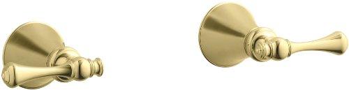 KOHLER K-16217-4A-PB Revival Two-Handle Wall-Mount Bath Valve Trim, Vibrant Polished Brass