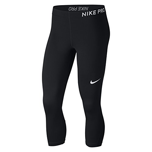 NIKE Women's Pro Capris Black/White Size Medium - Nike Pro Leggings