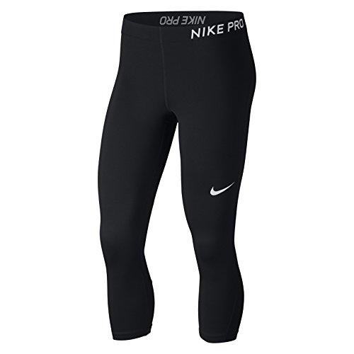Nike Women's Pro Cool Capris (Black/White, S)