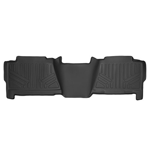 SMARTLINER Floor Mats 2nd Row Liner Black for 2001-2006 Chevrolet/GMC/Cadillac Pick-Up and SUV - 2007 Classic Truck Models
