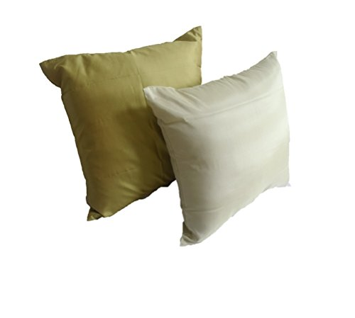 Lotus House Lite Olive & Pea Green Silk Pillow Case Set by Lotus House