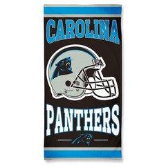 """Carolina Panthers Cotton Beach Towel """"Helmet"""""""