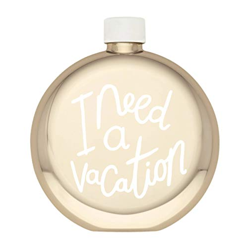 Kate Spade I Need A Vacation - Flask Silver Plated