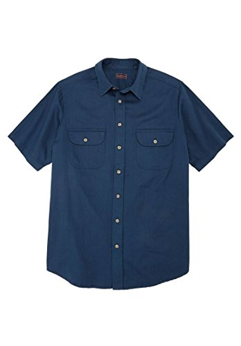 [Boulder Creek Men's Big & Tall Short-Sleeve Renegade Shirt (Blue Indigo,Big -] (Big And Tall Formal Wear)