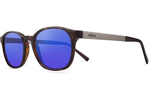 Revo Re 1044 Easton Crystal Lenses Polarized Wayfarer Sunglasses, Tortoise H2O Blue, 50 - Sunglasses Century 21