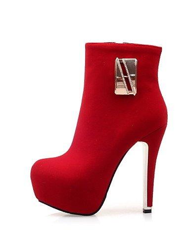red red Stiletto de eu38 cn38 uk5 Tacones Tacón Zapatos eu38 Botas Negro Vestido XZZ Puntiagudos red us7 y Sintético 5 us7 Marrón Oficina Ante 5 5 mujer cn41 us9 uk7 Rojo uk5 Trabajo eu40 xqRwCT55I