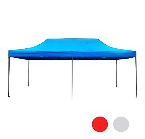 ilios innova Toldo Plegable 3x6 Acero Reforzado De la Mejor Calidad (Azul)