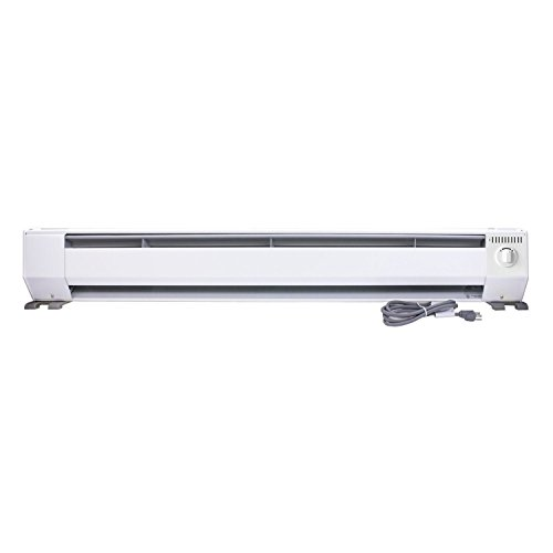 King Electric KPH1210 1000 Watt 120V 3-Foot Portable Baseboard Heater, 3' , White