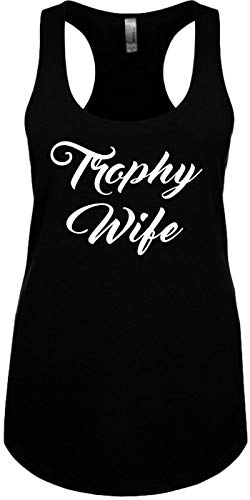 Signature Depot Junior's Size S Funny Tank Top (Trophy Wife (New Font) Bride) Ladies Shirt