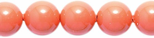 - SWAROVSKI ELEMENTS Swarovski 5810 Crystal Round Pearl Beads, 6mm, Coral, 6-mm,