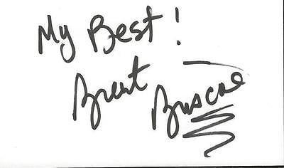 Brent Briscoe Signed 3x5 Index Card Spiderman 2 Sling Blade Dark Knight Rises B