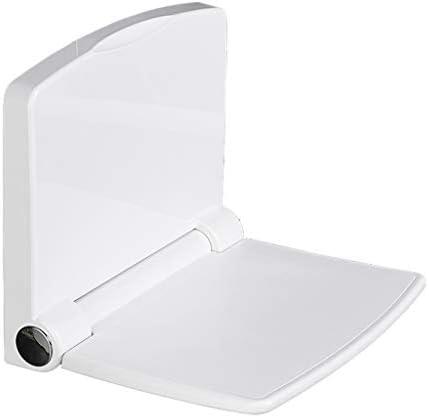 CHENFEILYD Bad Stuhl Duschhocker Faltender Duschhocker, Badezimmersitz Wandmontierter Duschsitz Rutschfester Älterer Badehocker, Geeignet für Kleines Badezimmer und Duschraum Badehilfen einstellbar