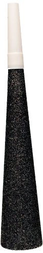 Creative Converting 4 Count Sparkle and Glitter Silver Noisemaker Horns, Black