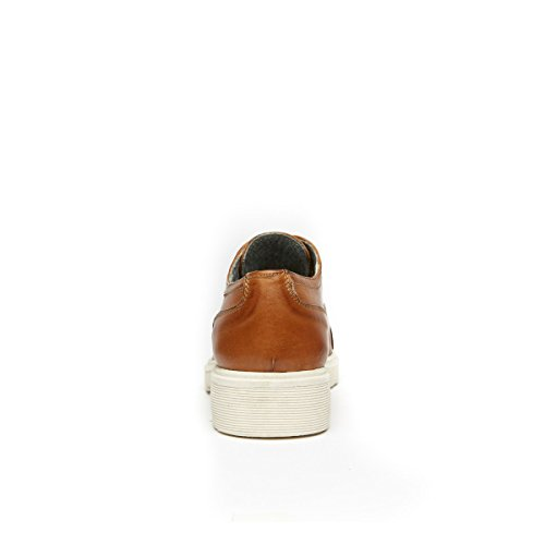 Frank Daniel Scarpa Stringata Francesina con Decorazione Toe Cap di Colore Marrone. Toe Cap Oxford Brown. Donna.