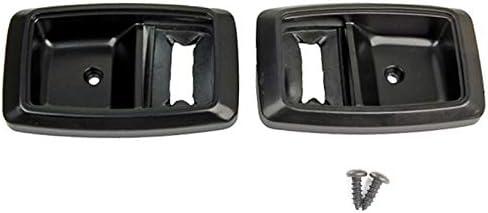 Blue Oval Industries 1979-1993 Mustang Black Inside Door Handle Trim Bezels with Install Screws Pair