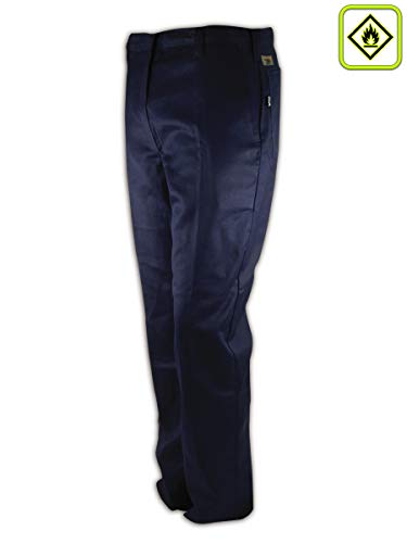 Magid Glove & Safety N1531RF-34U A.R.C. N1531RF Unhemmed Arc-Resistant Relaxed Fit Heavy Duty Pants, Navy (Best Ar 10 Caliber)