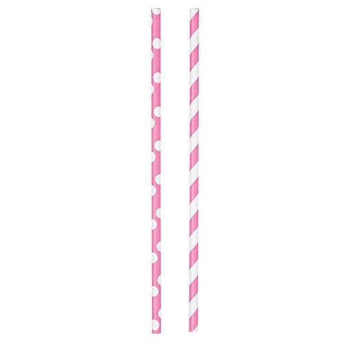 Diva Polka Striped Paper Straws