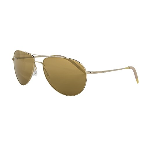 NEW Oliver Peoples Benedict Aviator Sunglasses OV1002S 5035W4 Gold Mirrored Lens