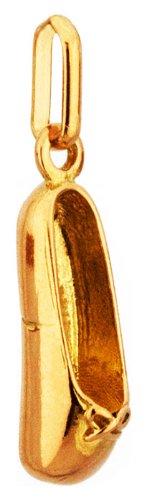 Lucas Lucor - P1488 : Pendentif Femme Or 18K jaune - Chausson de Danse