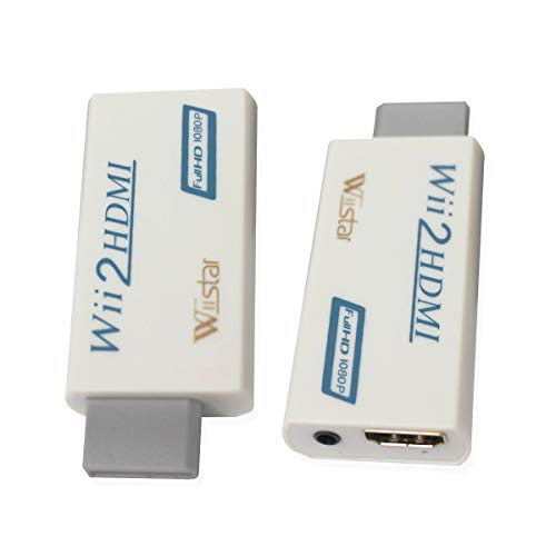 (Wiistar Wii to HDMI Converter Output Video Audio Adapter HDMI Converter - Supports All Wii Display Modes to HDTV & Monitor)