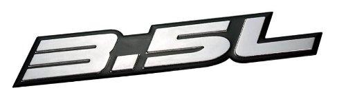 3.5L Liter Embossed SILVER on Black Highly Polished Silver Real Aluminum Auto Emblem Badge Nameplate for Dodge Intrepid RT SXT Avenger Challenger SE Magnum Charger Chrysler New Yorker LHS Sebring Concorde 300 300M Special Plymouth Prowler Eagle Vision Ford Taurus X SE Sedan Edge F-150 Fusion Sport Flex Explorer Ecoboost Pontiac G6 Lincoln MKX MKZ
