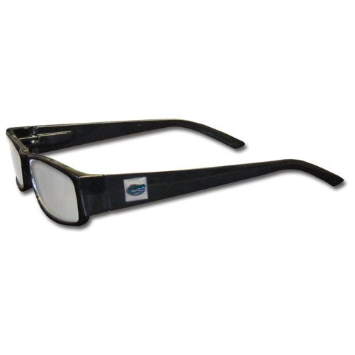 (NCAA Florida Gators Reading +2.50 Glasses, Black)