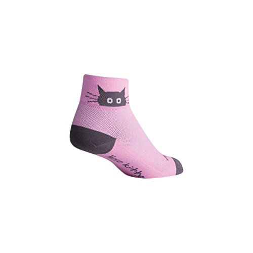 SockGuy Whiskers 2IN Cycling Sock - Women's, Pink , S-M  (Best Bike For Big Guys)