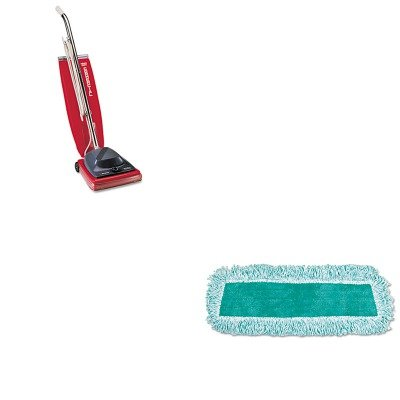 KITEUKSC684FRCPQ408GRE - Value Kit - Rubbermaid Q408GRE 18quot; Standard Microfiber Dust Mop with Fringe, Green (RCPQ408GRE) and Commercial Vacuum Cleaner, 16quot; (EUKSC684F)