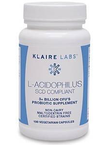 Klaire Labs - L-Acidophilus SCD Conforme 100 vcaps