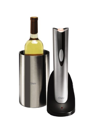 Bucket Electronic Ice (Oster 4208 Inspire Electric Wine Opener with Wine Chiller, Stainless Steel)