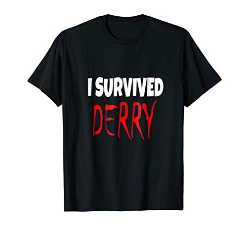 I Survived Derry Halloween Costume Fun Scary T-shirt for $<!--$17.99-->